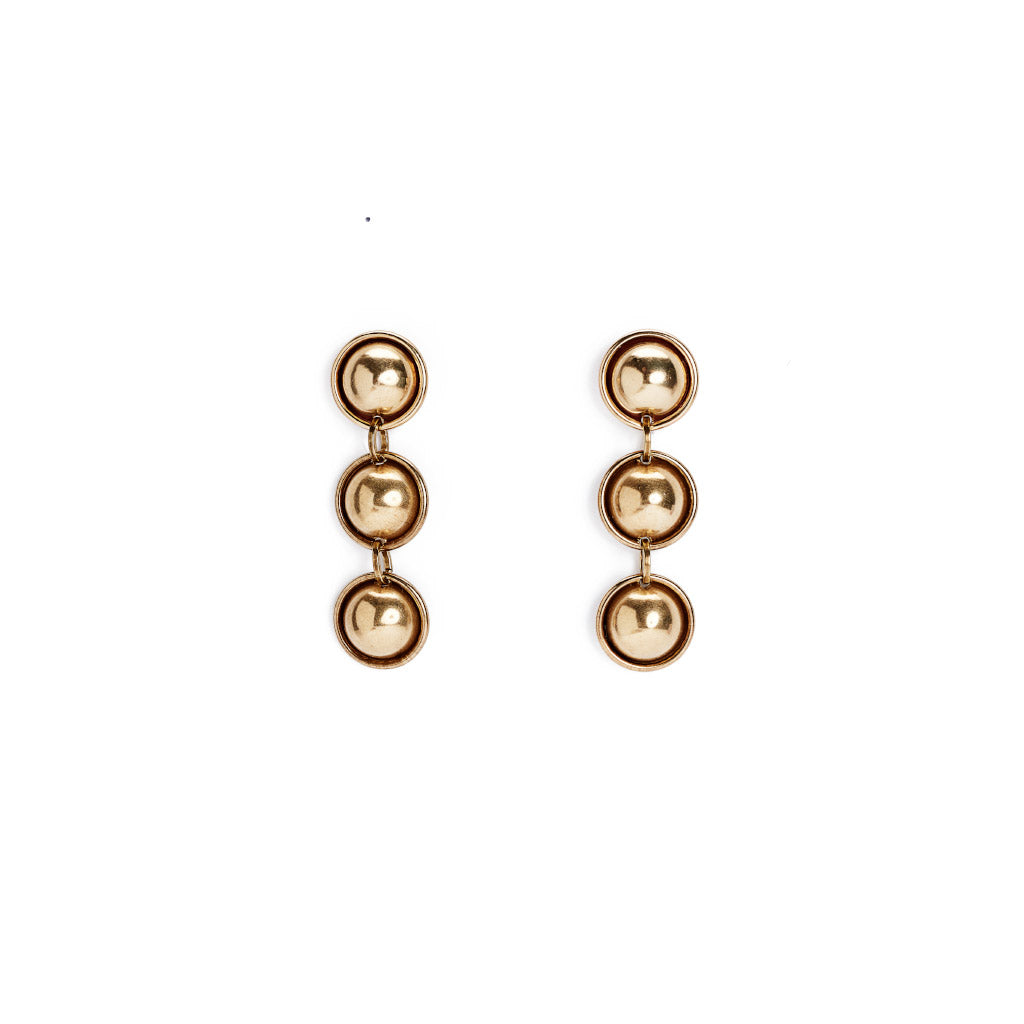 Michelle Ross Evie Brass Earrings SE25