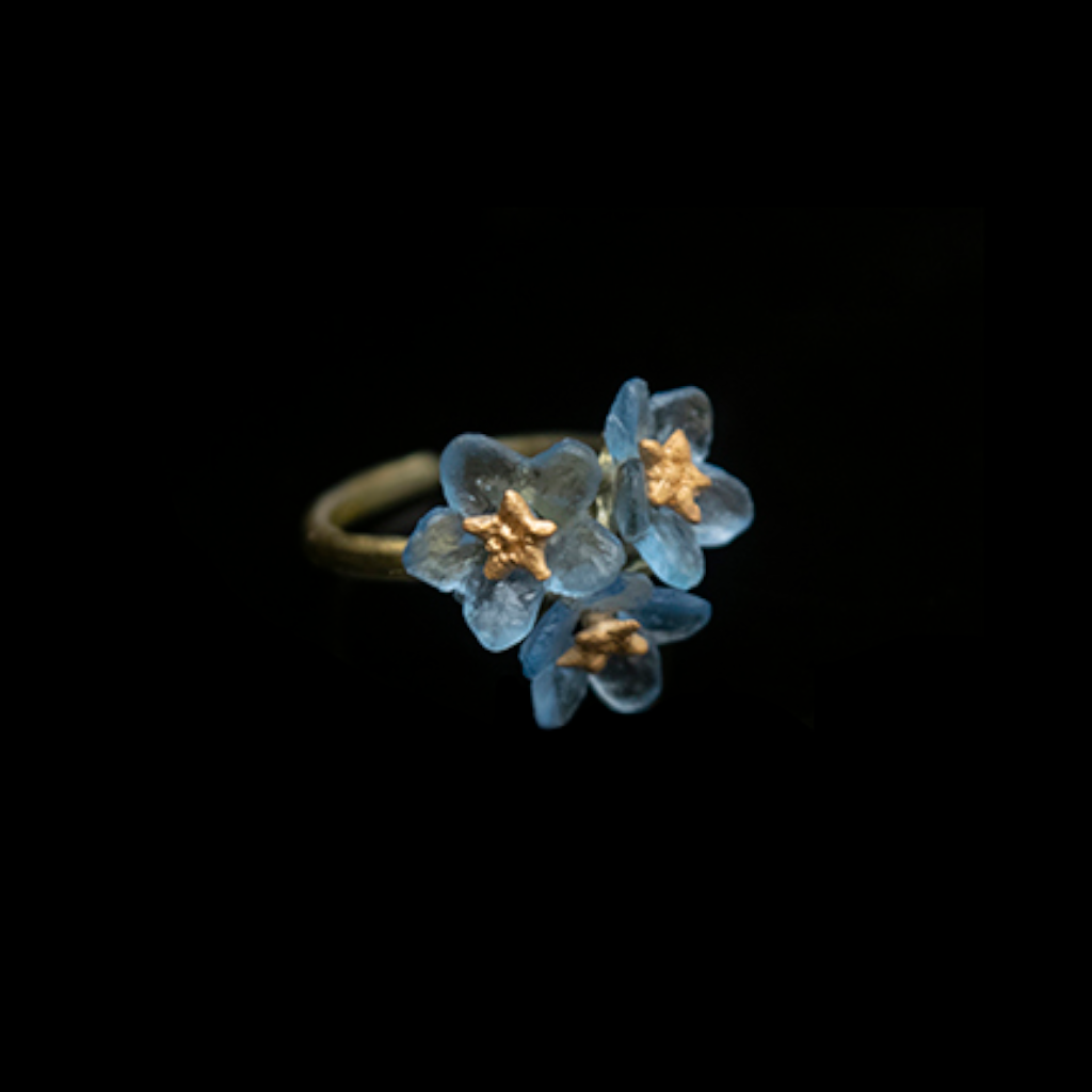 Silver Seasons Forget Me Not Ring 8438BZ
