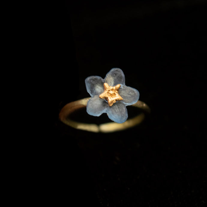 Silver Seasons Forget Me Not Ring 8439BZ
