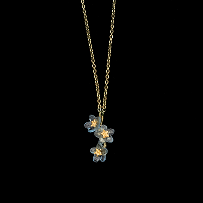 Silver Seasons Forget Me Not Three Flower Pendant 9180BZ