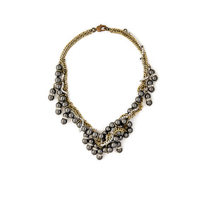 Michelle Ross Freida Black Pearl Necklace LN20