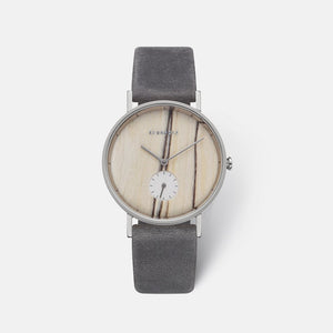 KERBHOLZ Frida White Birch Asphalt Watch