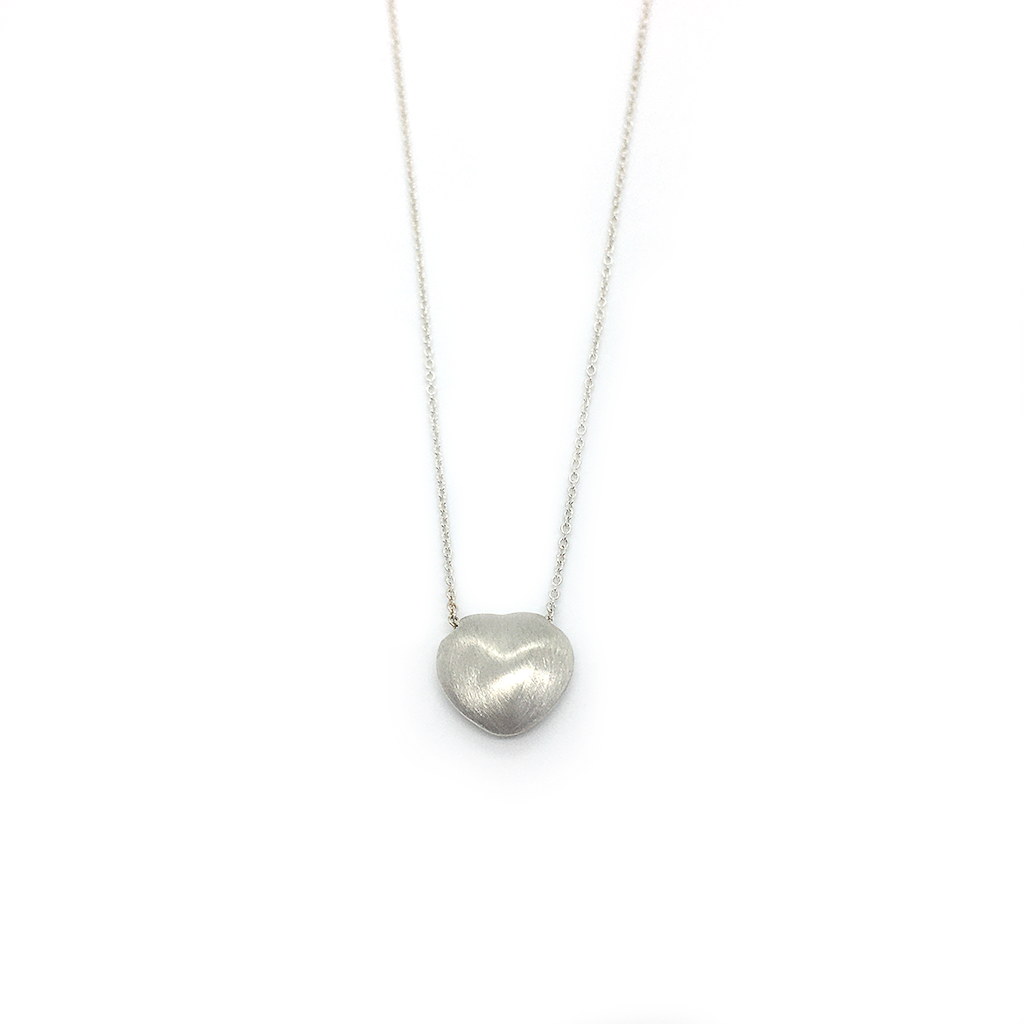megums Frosted Heart Necklace MNHN-1F