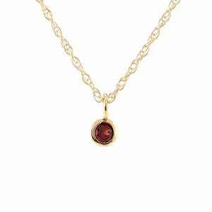 Kris Nations Garnet Charm Necklace Gold N778-G-GAR