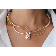 Lizzy James Girlfriend Gold/Silver 2 Hearts Necklace