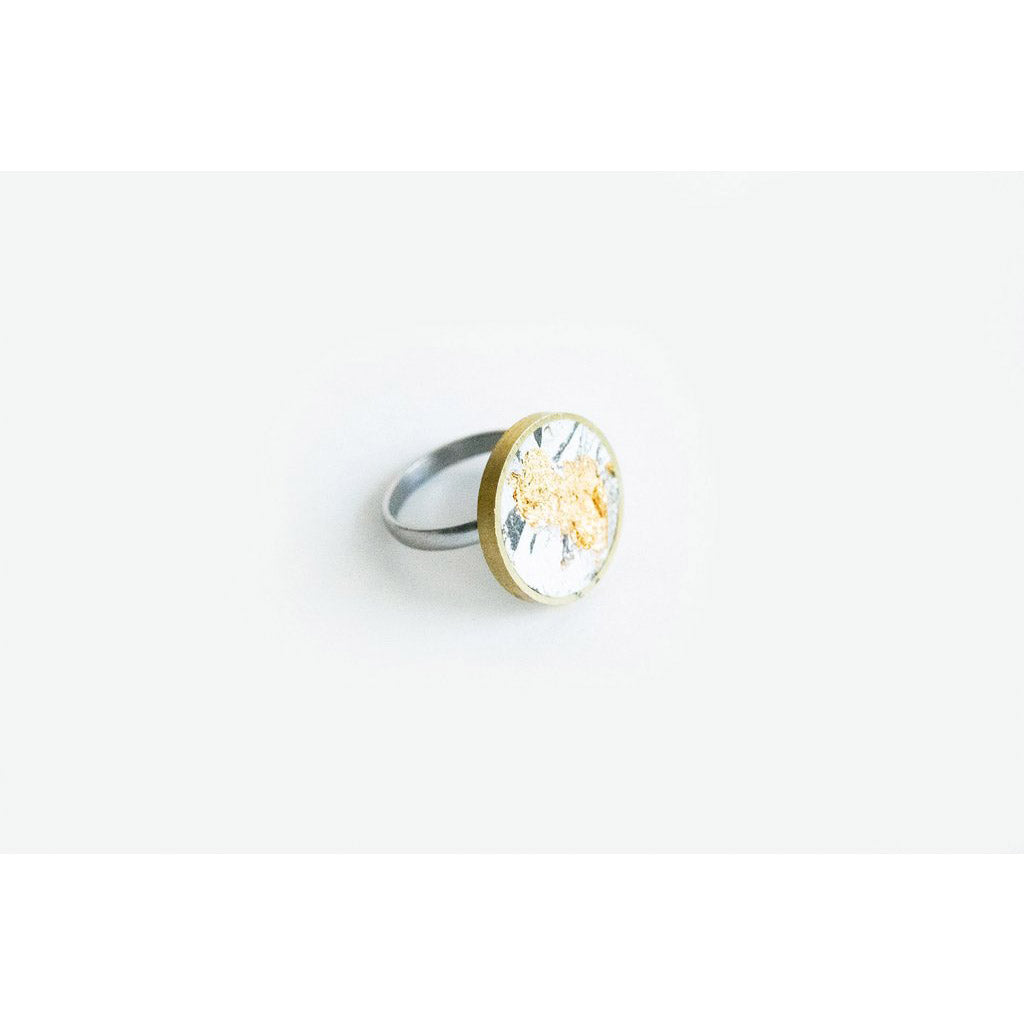 dconstruct Gold Marble Concrete Medium Ring CON-J-BR-R-MED-MG