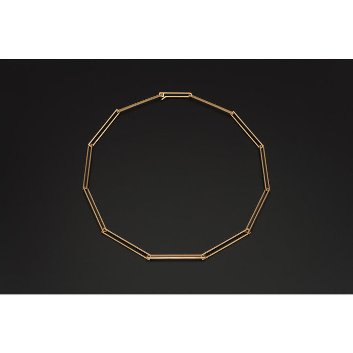 Deco Echo Gold Rectangle Necklace 561259