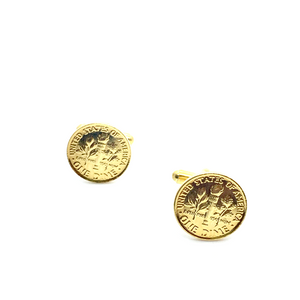 Cuff Stuff Golden Dime Cufflinks CU0GD1
