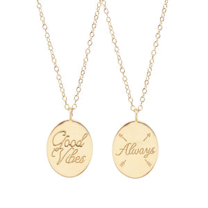 Kris Nations Good Vibes Always Necklace Gold N639-G