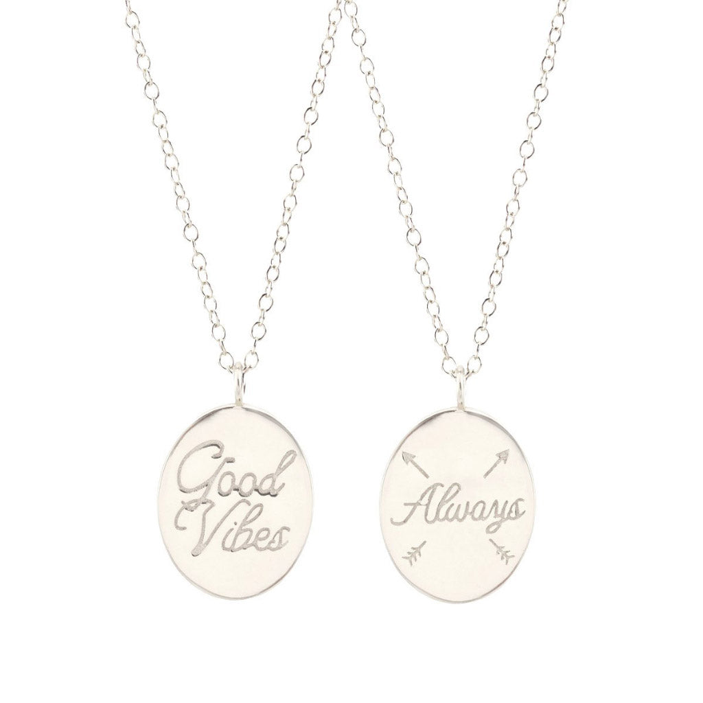 Kris Nations Good Vibes Always Necklace Silver N639-S