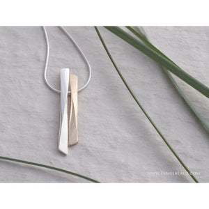 Pamela Lauz Grass Duo Bronze and Silver Pendant GRA-B015-16