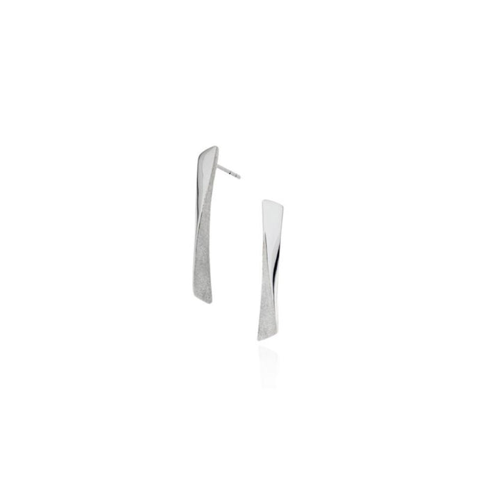 Pamela Lauz Grass Short Silver Earrings GRA-S010