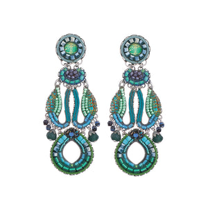 Ayala Bar Green River Daisy Earrings C1122
