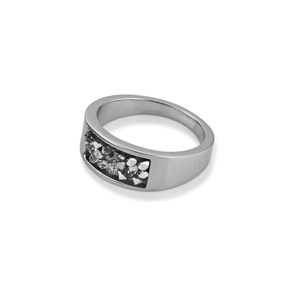 COEUR DE LION Grey Crystal Ring 4834/40-1700