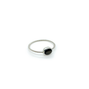 Slashpile Grey Glass Lost & Found Ring