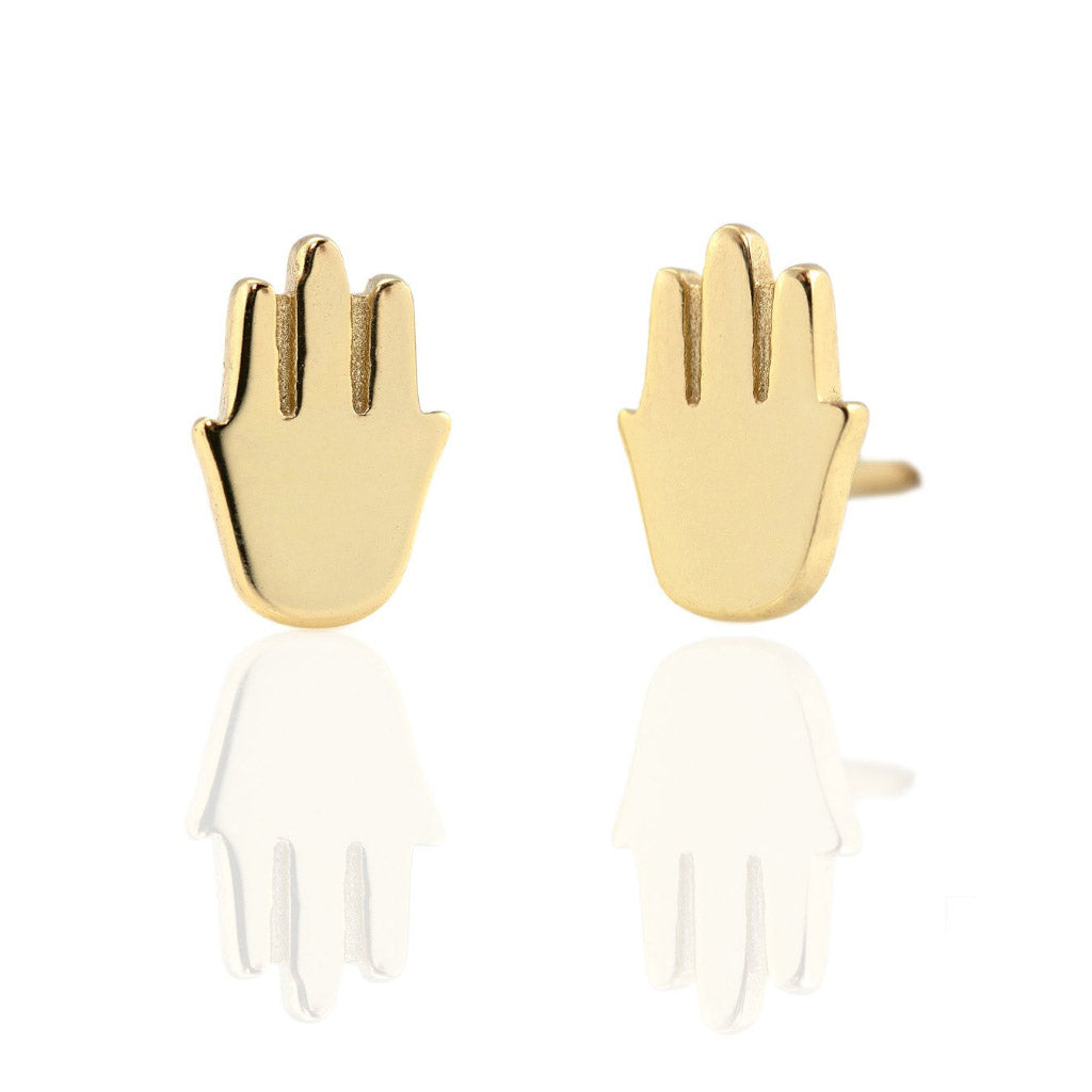 Kris Nations Hamsa Studs Gold E649-G