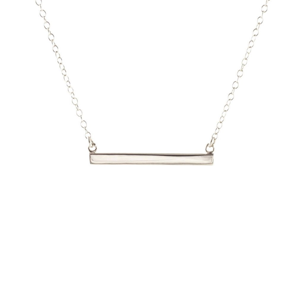 Kris Nations Horizontal Bar Necklace Silver N651-S