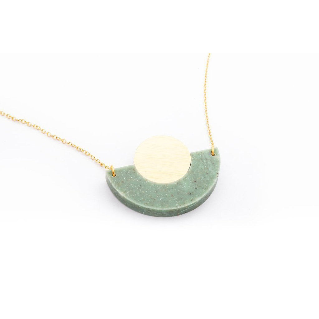 dconstruct Jade Corian Arc Circle Necklace COR-N-AC-J-18