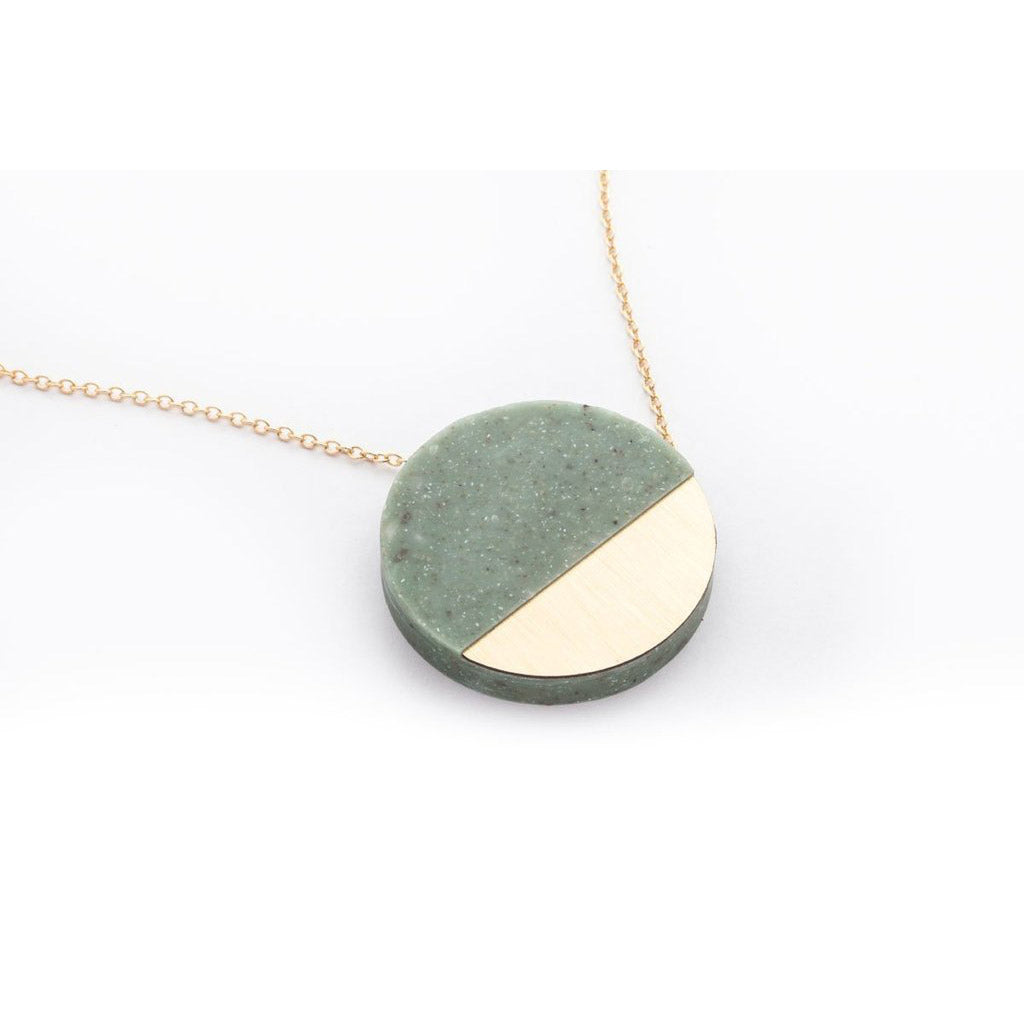 dconstruct Jade Corian Sector Necklace COR-N-SEC-J-18