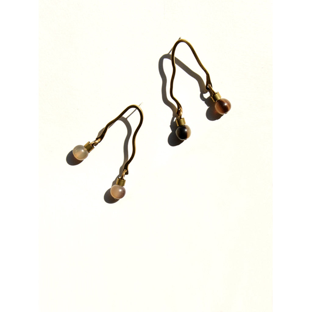 Michelle Ross Jemma Camel Earrings LE20