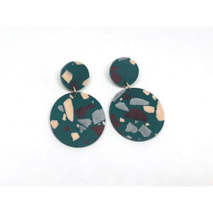 dconstruct Jesmonite Forest Concrete Circle Earrings CON-J-JES-ECIRS-F