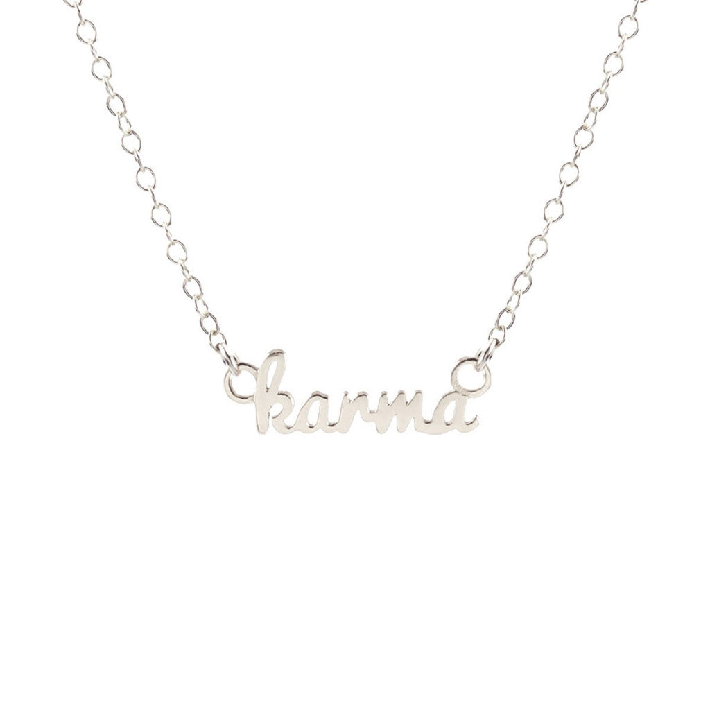 Kris Nations Karma Necklace Silver N-KARMA-SCRIPT-S