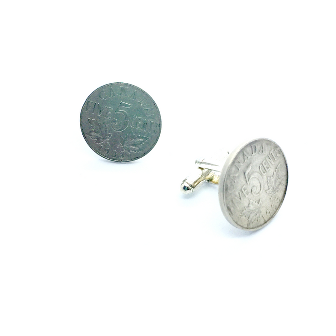Cuff Stuff King George Nickel Cufflinks CU0KG1