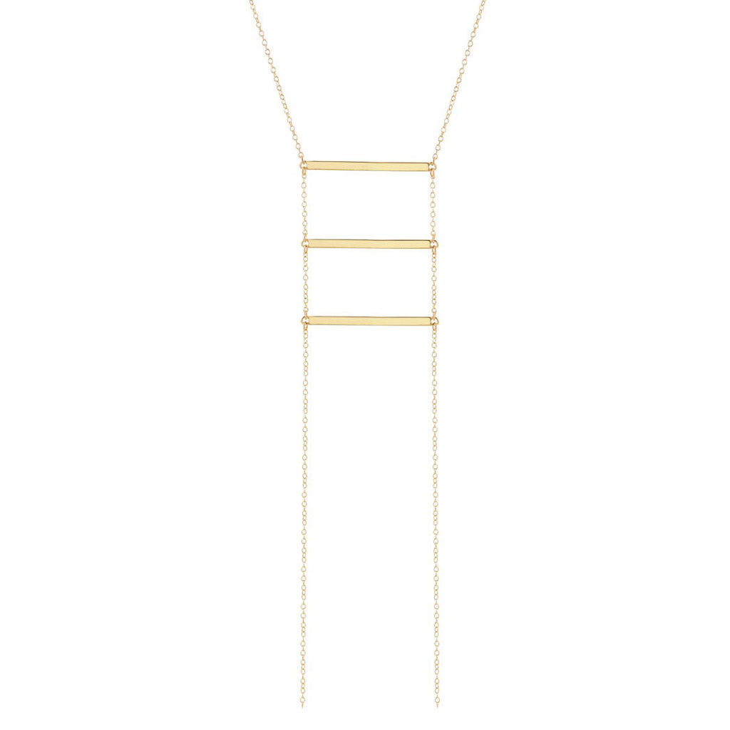 Kris Nations Ladder Necklace Gold N660-G