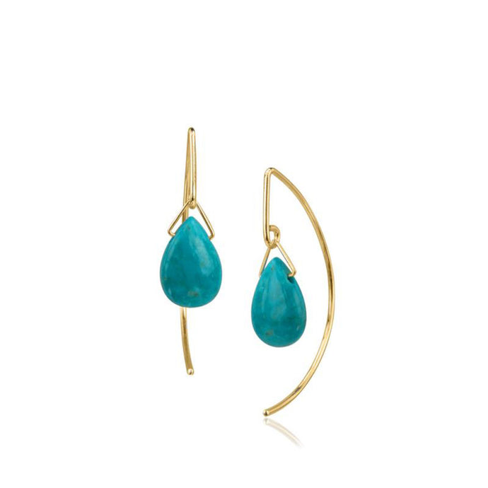 Pamela Lauze Turquoise Gold-filled Earrings LAN-GF19