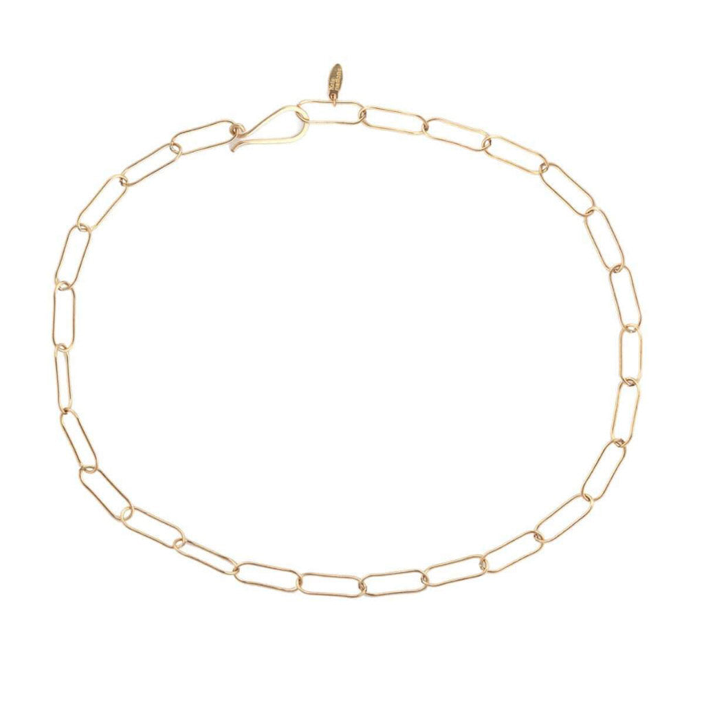 Kris Nations Large Link Chain Choker Gold N672-G