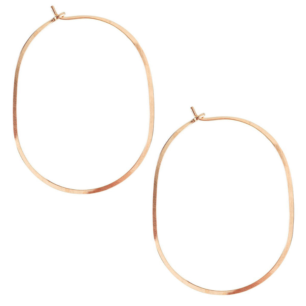 Kris Nations Large Oval Hoops Rose Gold E089-RG
