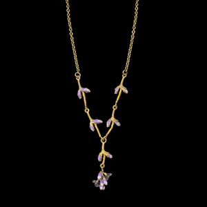 Silver Seasons Lavender Necklace 9319BZ