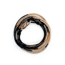 Lizzy James Lizzy Classic Rose Gold Black Wrap Bracelet