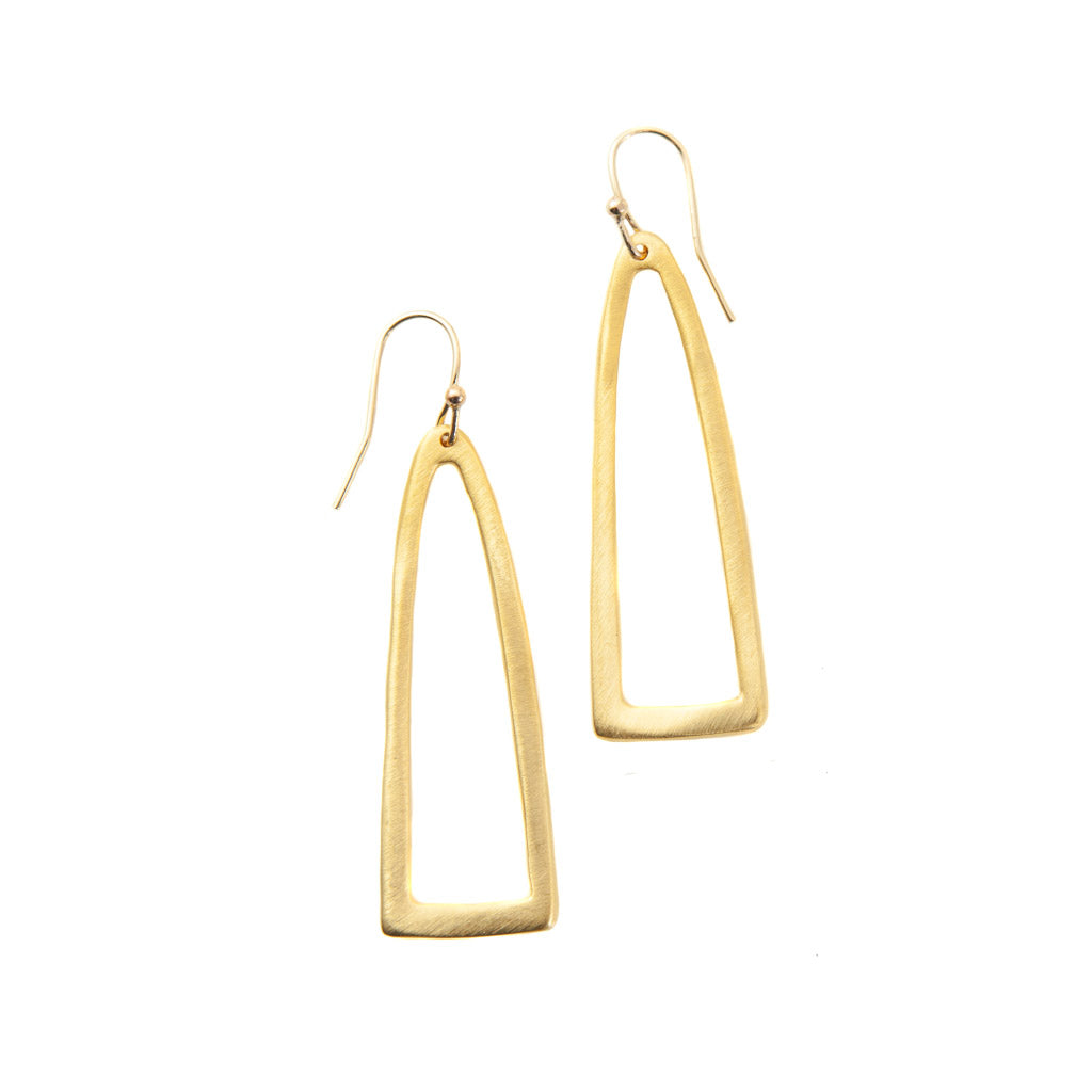 Philippa Roberts Long Half Oval Earrings 139-10ve