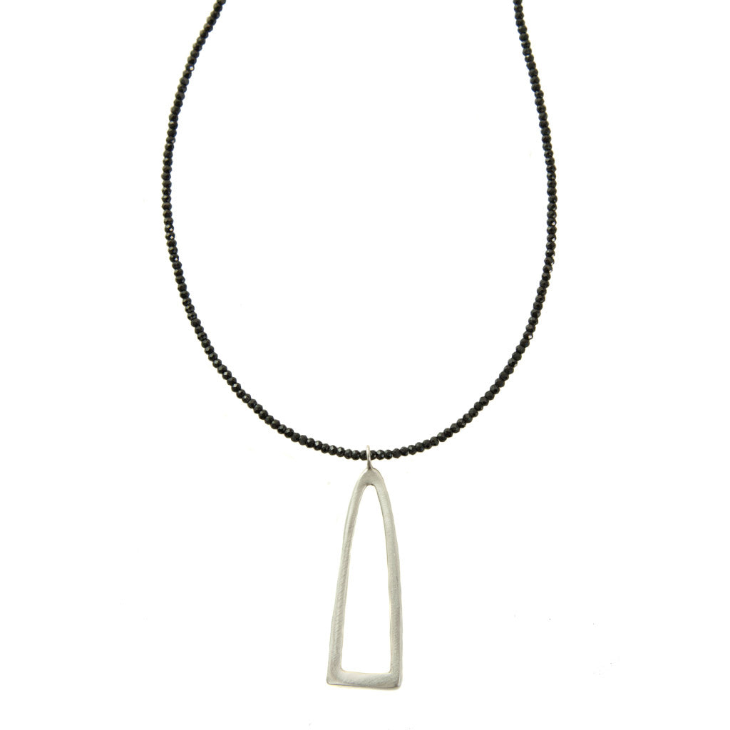 Philippa Roberts Long Half Oval Onyx Necklace 139-11sn
