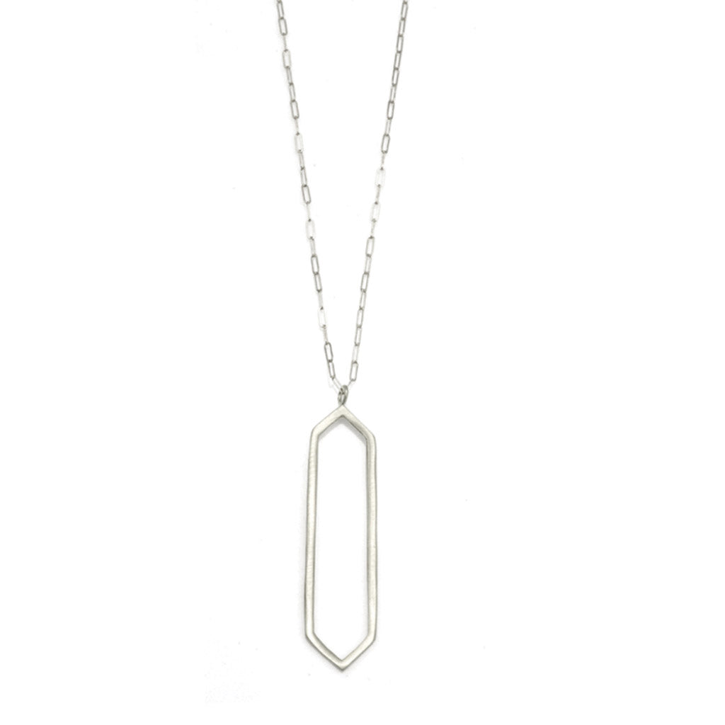 Philippa Roberts Long Open Hexagon Necklace 9405sn