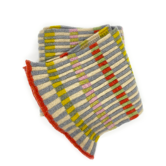 Katie Mawson Lossie Block Striped Scarf KMASC7LOSSIE