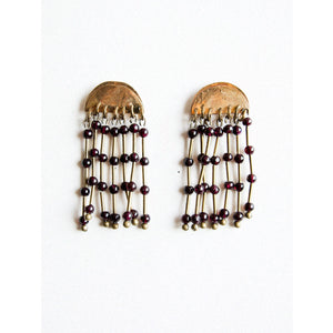 Michelle Ross Luna Garnet Earrings RE01