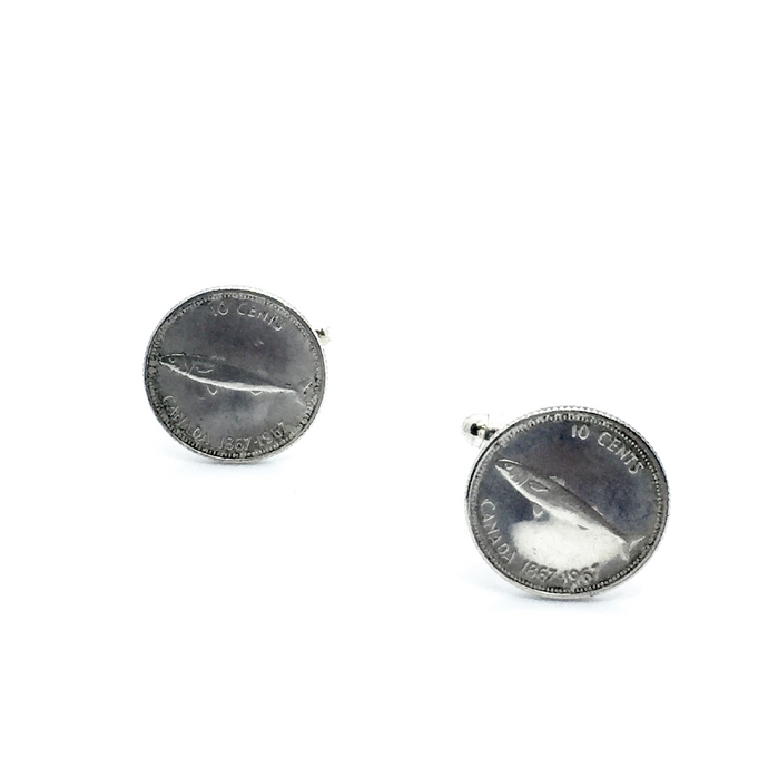 Cuff Stuff Mackerel Dime Cufflinks CU0FD1