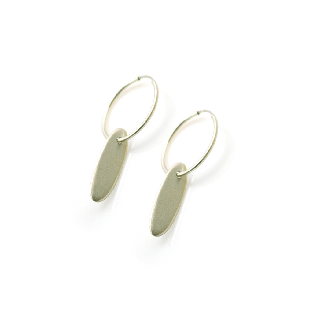 Philippa Roberts Medium Oval Hoop Earrings 10108se