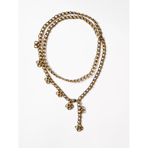 Michelle Ross Mele Brass Necklace MN02