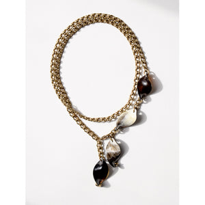 Michelle Ross Mele Horn Necklace MN03