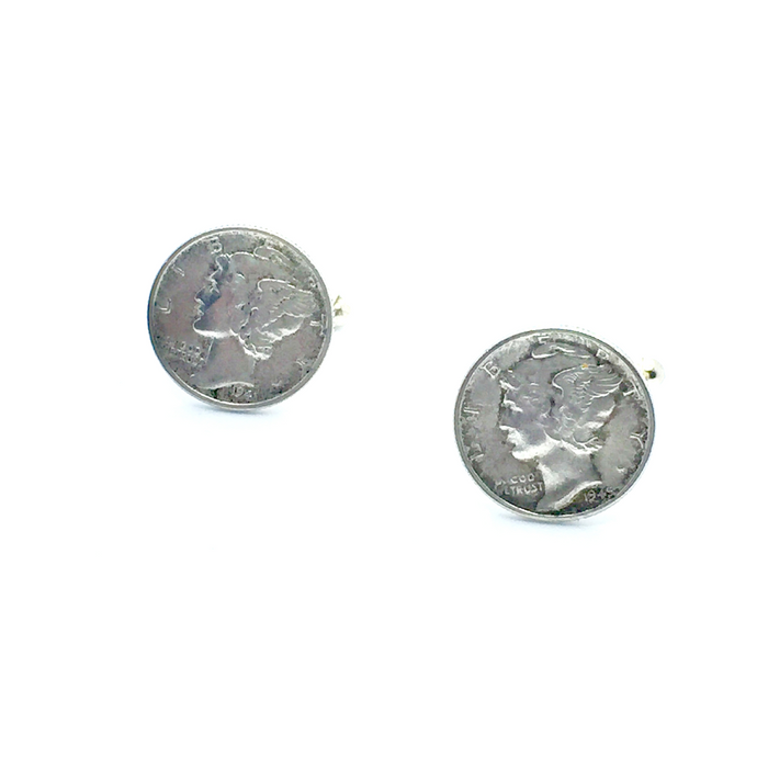 Cuff Stuff Mercury Dime Cufflinks CU0MD1