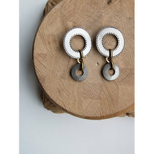 Michelle Ross Milena Antique Silver Earrings KE09
