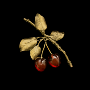 Silver Seasons Morello Cherry Brooch 5689BZRG