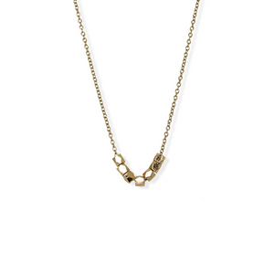 jj+rr Multi Faceted Bead Necklace Gold 4N414-G
