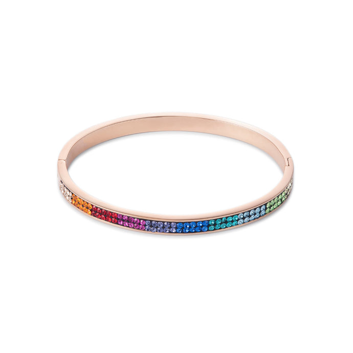 COEUR DE LION Multicolour Pave Crystal Bangle 0214-33-1500