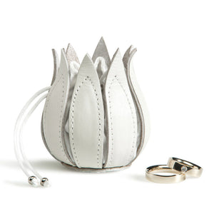 by-Lin My Little Tulip Wedding Coin Purse in White 090503
