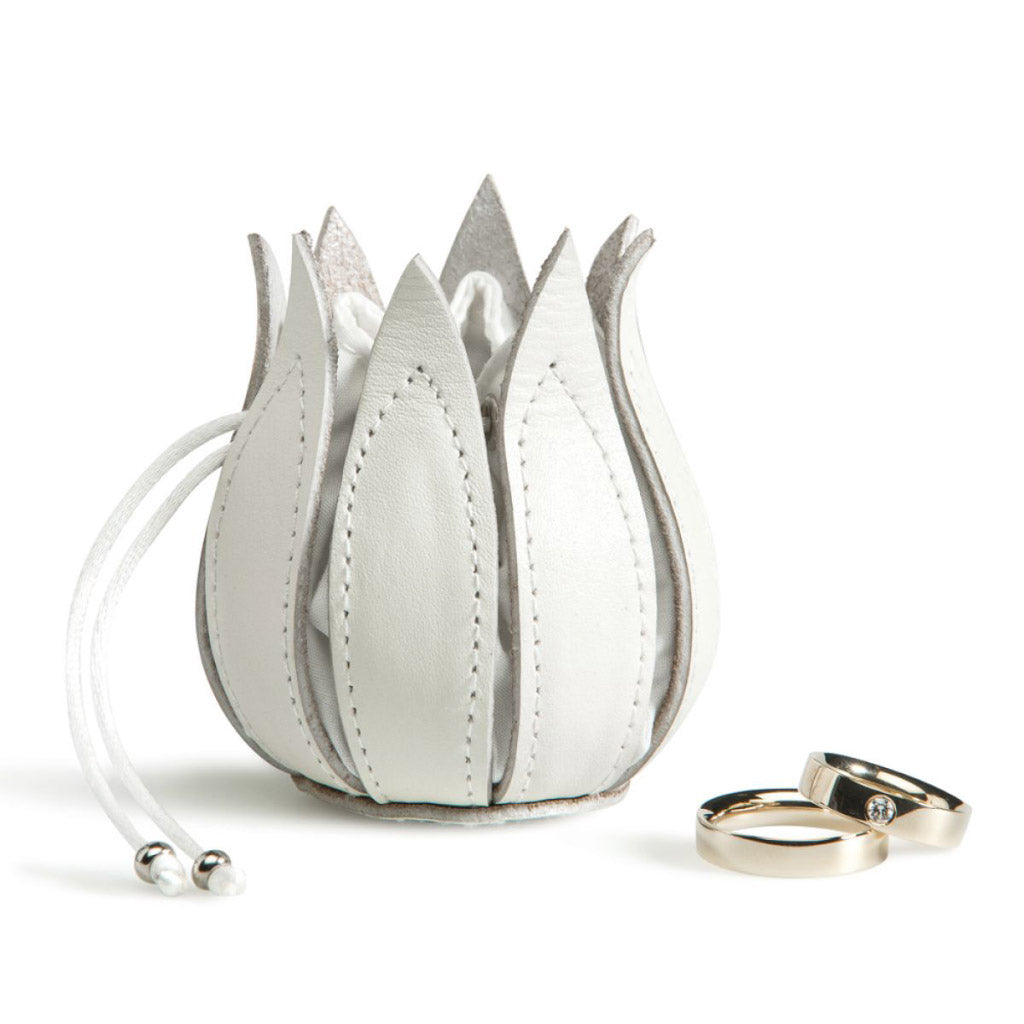 byline My Little Tulip Wedding Coin Purse in White 090503