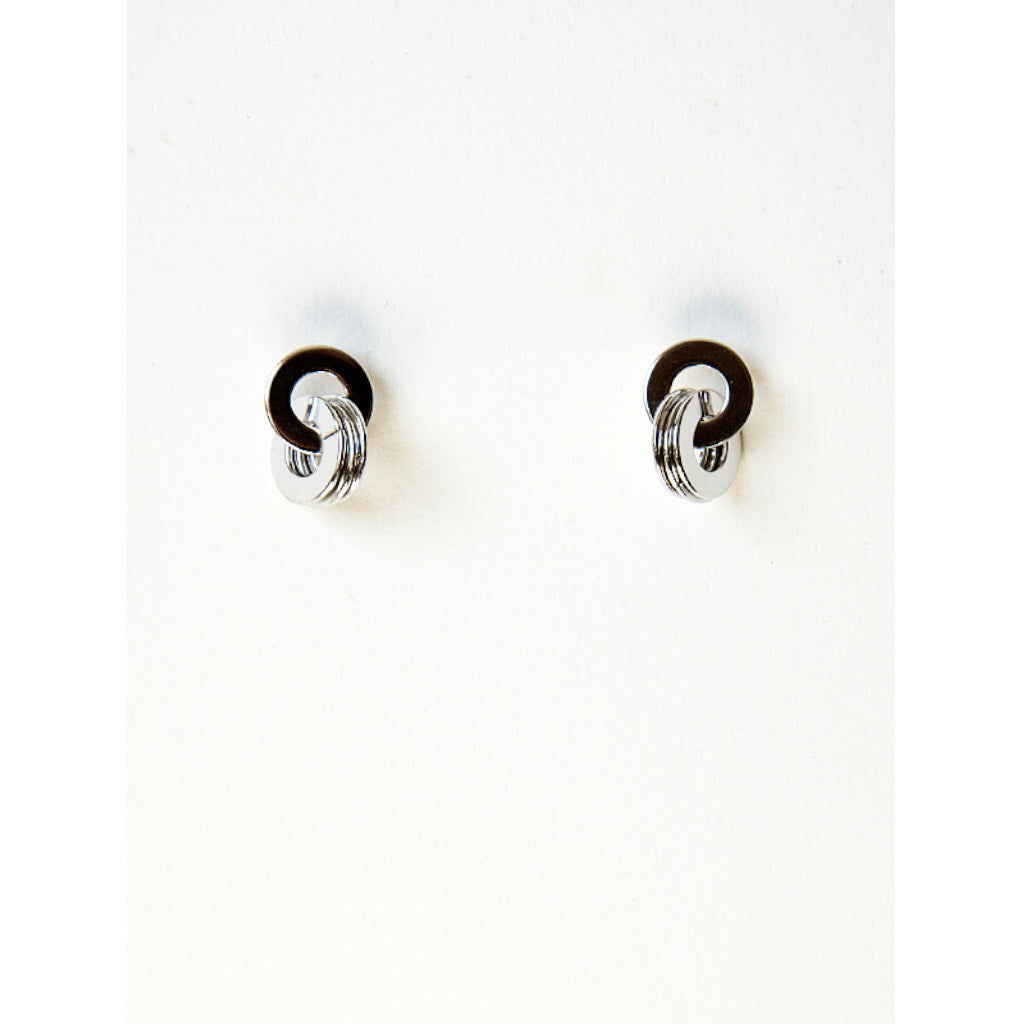 Michelle Ross Nadia Rhodium Earrings SE02